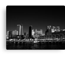 Campbell's Cove in B&W Canvas Print