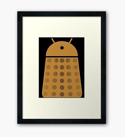 Droidarmy: Dalek - Dalek Gold Sticker Framed Print
