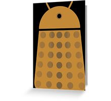 Droidarmy: Dalek - Dalek Gold Sticker Greeting Card