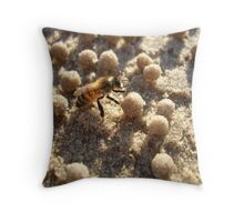 Bee On Holiday At The Beach Throw Pillow