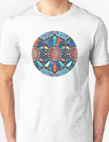 Iridescent Watercolor Brights on Black  T-Shirt