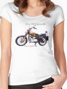 Royal Enfield - Grow Old Disgracefully Women's Fitted Scoop T-Shirt