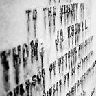 Worn Writing on Headstone by AriseShine