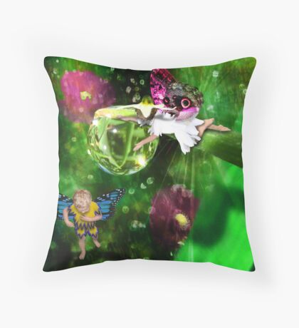 Water Bomb in Fairyland Throw Pillow