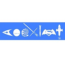 COEXIST SCI FI VERSION 2015 Bumper Sticker Photographic Print