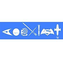 COEXIST SCI FI VERSION 2015 Bumper Sticker Photographic Print