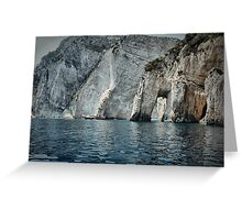 Rugged coastline of Zakynthos Greeting Card
