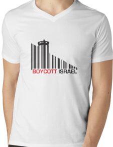 Boycott Israel (wall version) Mens V-Neck T-Shirt