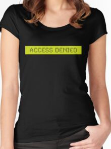LCD: Access Denied Women's Fitted Scoop T-Shirt