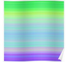 Spring-Summer Colour Stripes Poster