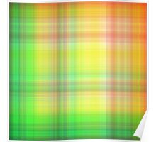 Spring-Summer Colour Plaid Poster