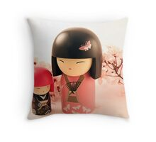 Toki and Michiko in Pink Throw Pillow