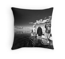 Rooney Launch at Sanur (Black & White) Throw Pillow