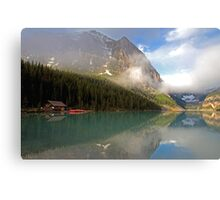 THE BOAT SHED AT LAKE LOUISE Canvas Print