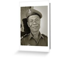 Cambodian soldier Greeting Card