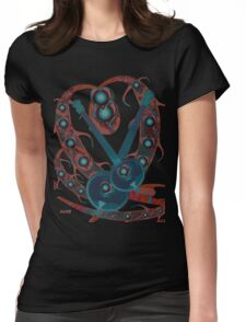 Psychedelic Guitar Womens Fitted T-Shirt