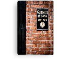 Guinness is good for you Canvas Print