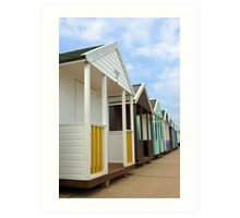 Beach Huts Art Print