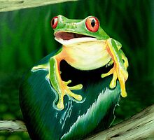 GREEN TREE FROG by vinn