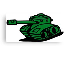 war battle tank army cartoon Canvas Print