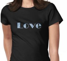 'Blue Love' Womens Fitted T-Shirt