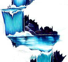 WATERFALL MURAL by vinn