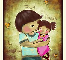 Dad and daughter by Beatrice  Ajayi
