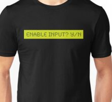 LCD: Enable Input? Yes/No Unisex T-Shirt