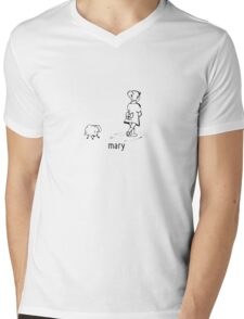mary Mens V-Neck T-Shirt