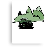 Jeeping It!: GREEN Canvas Print