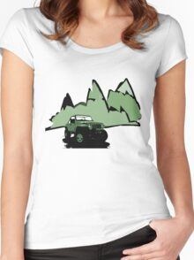 Jeeping It!: GREEN Women's Fitted Scoop T-Shirt