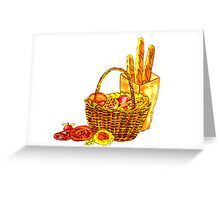French Picnic Greeting Card