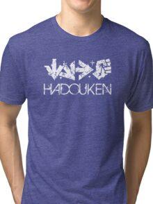 Hadouken Command White Tri-blend T-Shirt