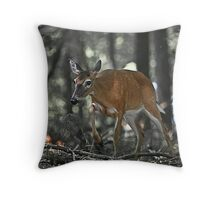 9780 - Frightened Throw Pillow