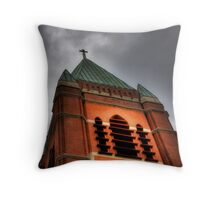 St. Mary's Bell Tower Throw Pillow
