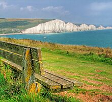 Bench and Seven Sisters - HDR  by Colin  Williams Photography
