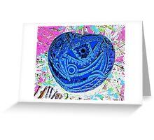 Big Blue Pumpkin Greeting Card