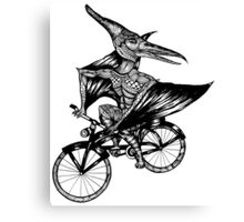 Pterosaur Bicycle Canvas Print