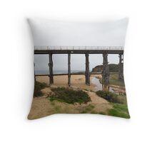 Railway Trestle Bridge.. Killcunda 2 Throw Pillow