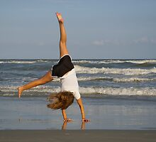 Cartwheel on the Beach by bcollie