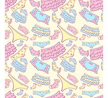 Underwear seamless pattern with other pants and socks. For web design and  other Photographic Print