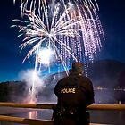 Fireworks and Police by zpaperboyz