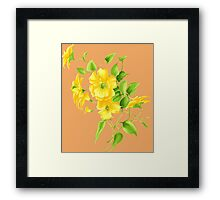 Bouquet of yellow wildflowers Framed Print