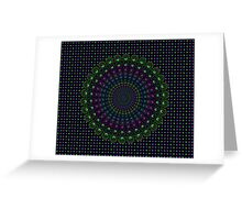 Psychedelic Spin Greeting Card