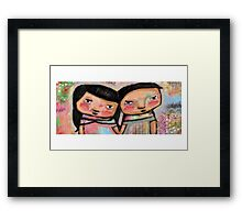 'Together' a couple in love  Framed Print