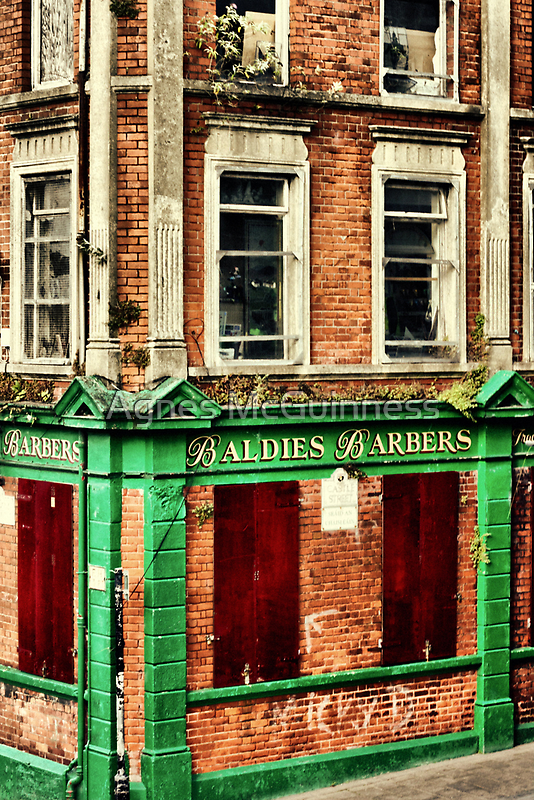 Barber shop - hair today, gone tomorrow! by Agnes McGuinness