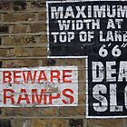 Signs Painted on Brick Wall by AriseShine