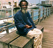 BridgeTown Barbados man reaching by Jerry Clitty