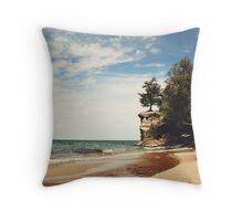 Chapel Beach Throw Pillow