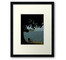 The River Bank ~ Part Three : Where Else To Be ? Framed Print